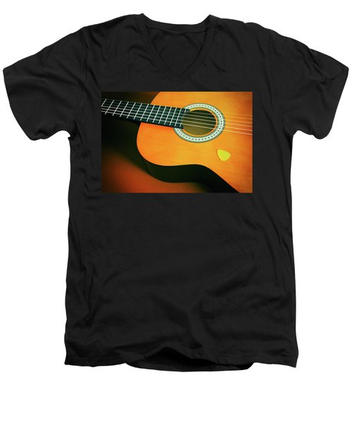 Men's V-Neck T-Shirt featuring the photograph Classic Guitar  by Carlos Caetano