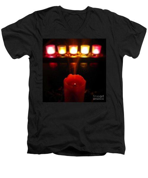 Color In Lights Men's V-Neck T-Shirt