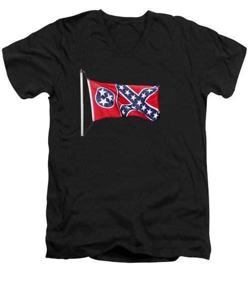 Confederate-flag Men's V-Neck T-Shirt
