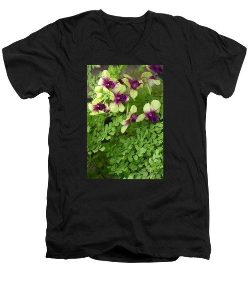 Contrasts Men's V-Neck T-Shirt by Deborah  Crew-Johnson