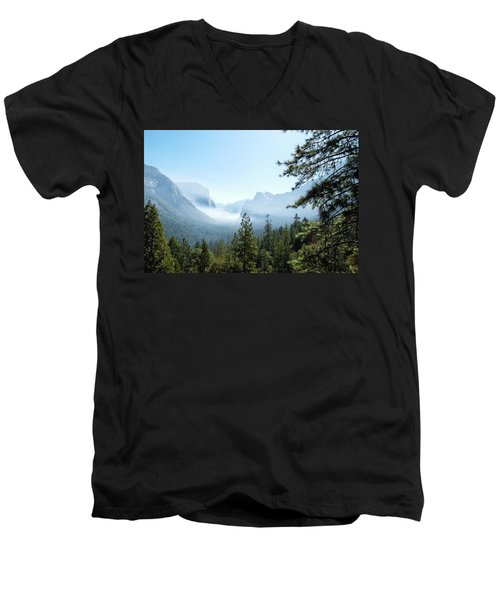 Controlled Burn Of Yosemite Men's V-Neck T-Shirt