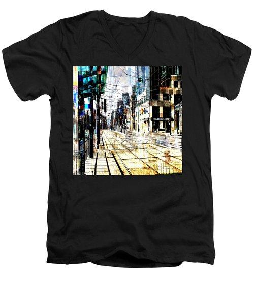 Crossing Spadina Men's V-Neck T-Shirt by Nicky Jameson