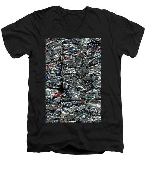 Crushed Cans Men's V-Neck T-Shirt