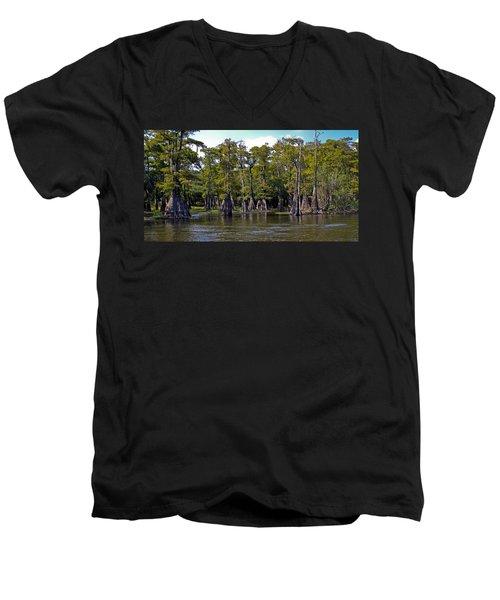 Cypress On The Suwannee Men's V-Neck T-Shirt