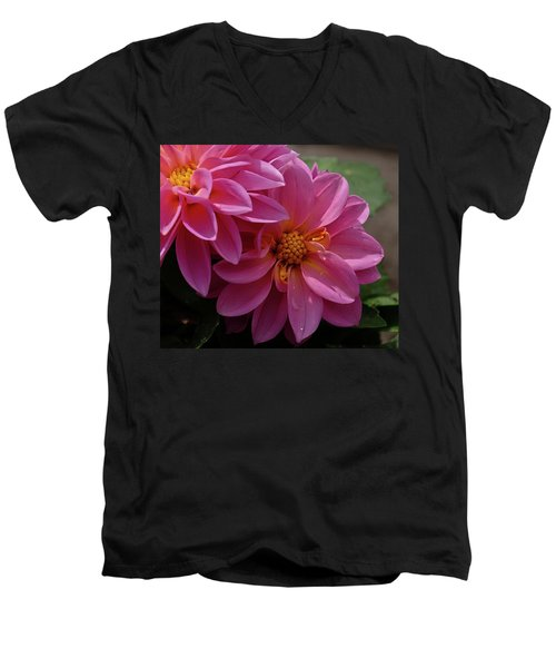 Dahlia Beauty Men's V-Neck T-Shirt by Ronda Ryan