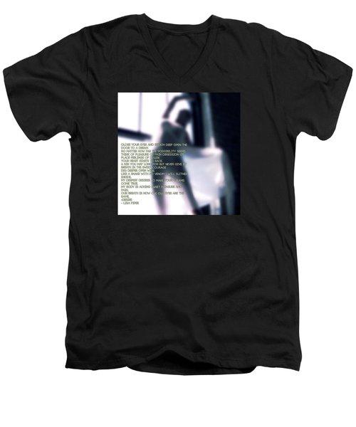 Desire Men's V-Neck T-Shirt by Lisa Piper