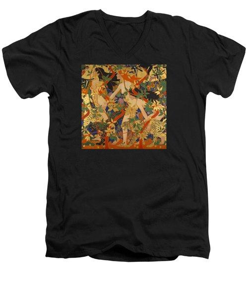 Diana And Her Nymphs Men's V-Neck T-Shirt