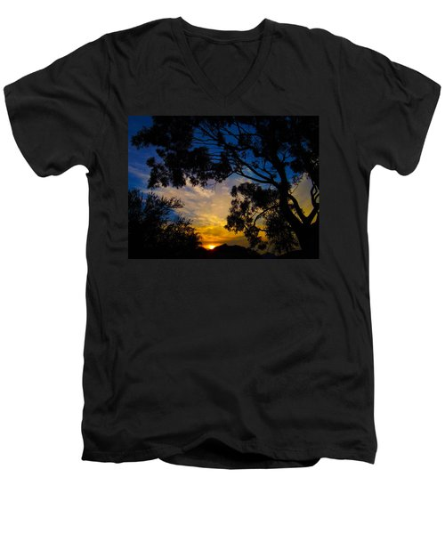 Dream Sunrise Men's V-Neck T-Shirt by Mark Blauhoefer
