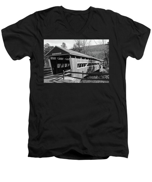 East And West Paden Twin Bridge Men's V-Neck T-Shirt