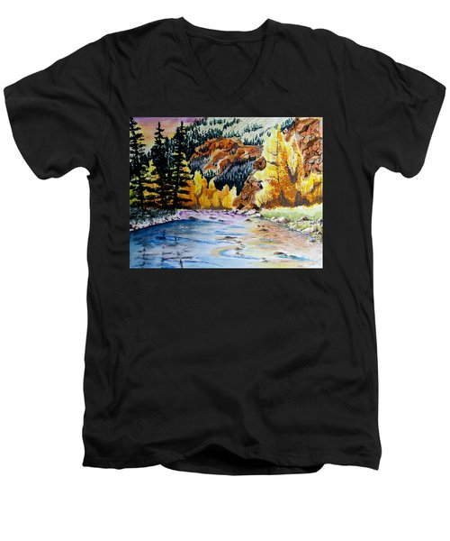 East Clear Creek Men's V-Neck T-Shirt