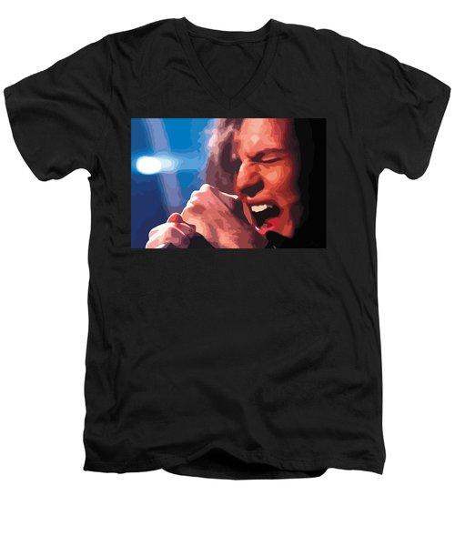 Eddie Vedder Men's V-Neck T-Shirt by Gordon Dean II