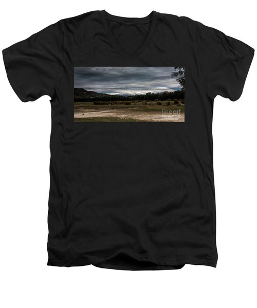 Etna, The West Side Men's V-Neck T-Shirt