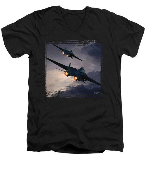 F-14 Flying Iron Men's V-Neck T-Shirt