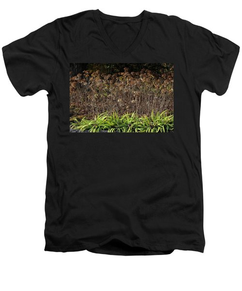 Men's V-Neck T-Shirt featuring the photograph Fall Contrasts by Deborah  Crew-Johnson