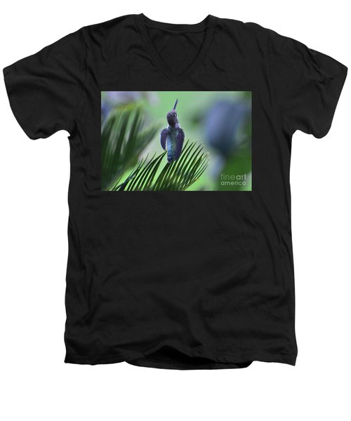 Men's V-Neck T-Shirt featuring the photograph First Warning by Debby Pueschel