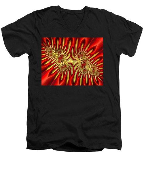 Fractal Landscape IIi Men's V-Neck T-Shirt