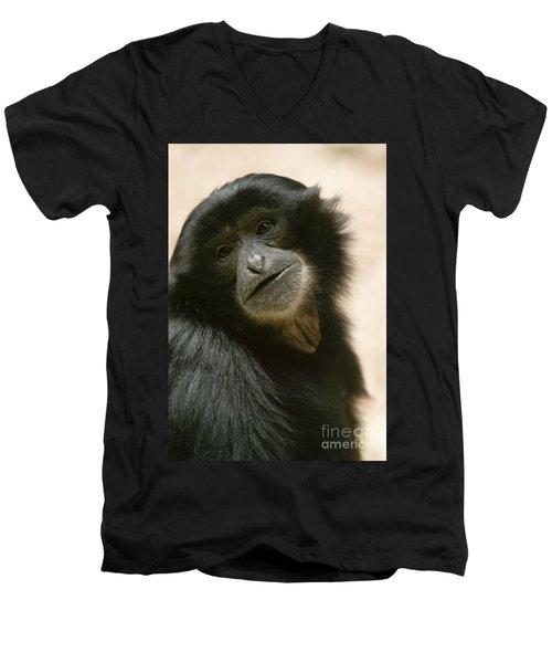 Funky Gibbon Men's V-Neck T-Shirt