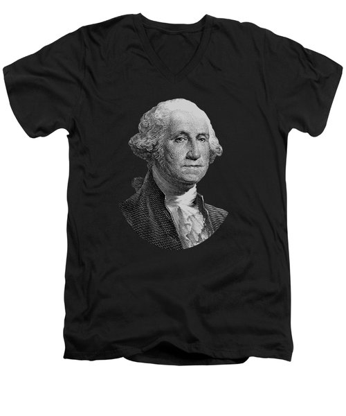 George Washington  Men's V-Neck T-Shirt by War Is Hell Store