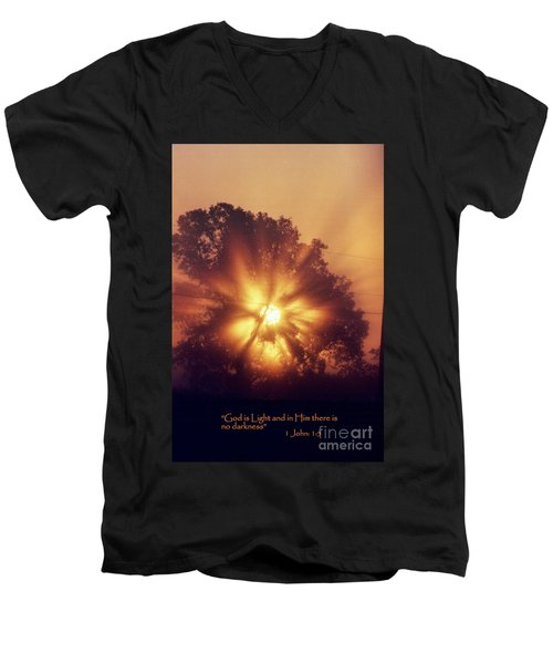 God Is Light Men's V-Neck T-Shirt