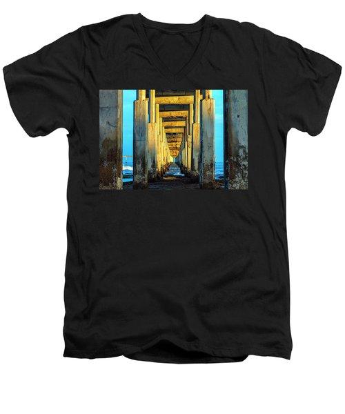 Golden Morning Men's V-Neck T-Shirt by Joseph S Giacalone
