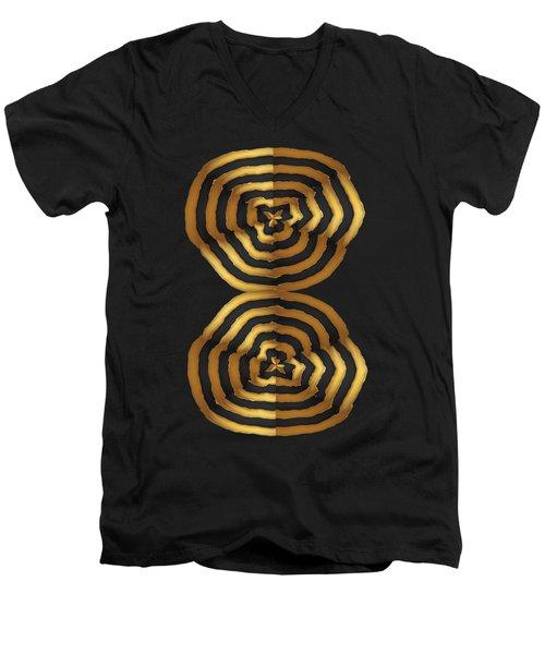 Golden Waves Hightide Natures Abstract Colorful Signature Navinjoshi Fineartartamerica Pixels Men's V-Neck T-Shirt