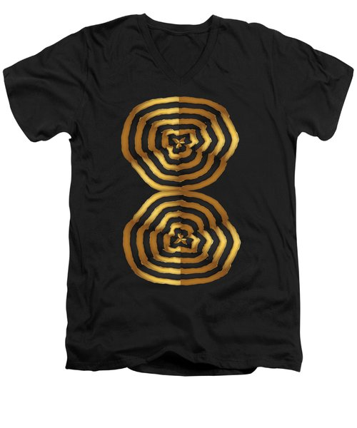 Golden Waves Hightide Natures Abstract Colorful Signature Navinjoshi Fineartartamerica Pixels Men's V-Neck T-Shirt