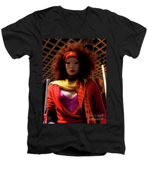 Colored Girl Men's V-Neck T-Shirt