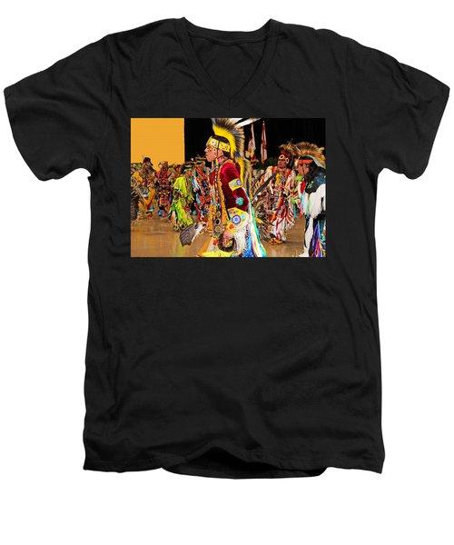 Grand Entrance Men's V-Neck T-Shirt by Audrey Robillard