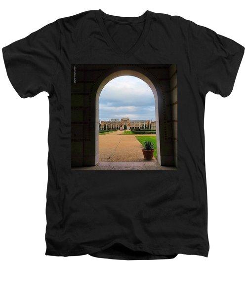Greetings From Rice University. #framed Men's V-Neck T-Shirt