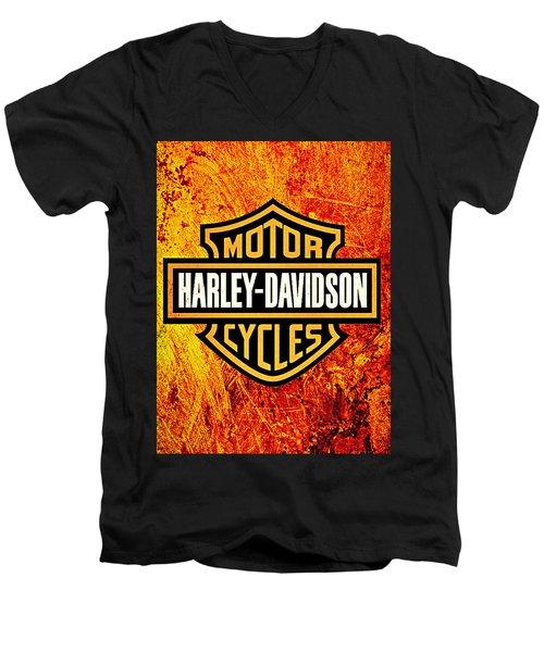 Harley-davidson Men's V-Neck T-Shirt