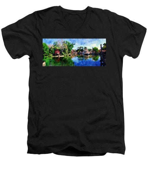Harper's Mill Men's V-Neck T-Shirt by Sandy MacGowan