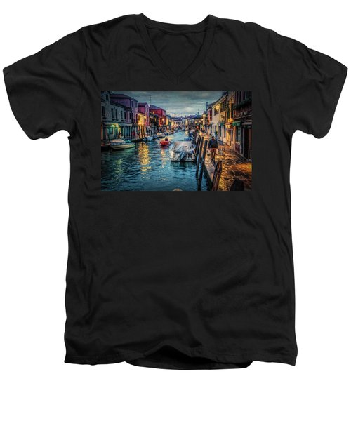 Heading For Home. Men's V-Neck T-Shirt by Brian Tarr