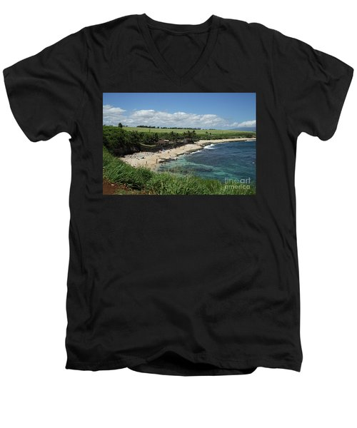 Ho'okipa Beach View From Ho'okipa Beach Park Hana Maui Men's V-Neck T-Shirt