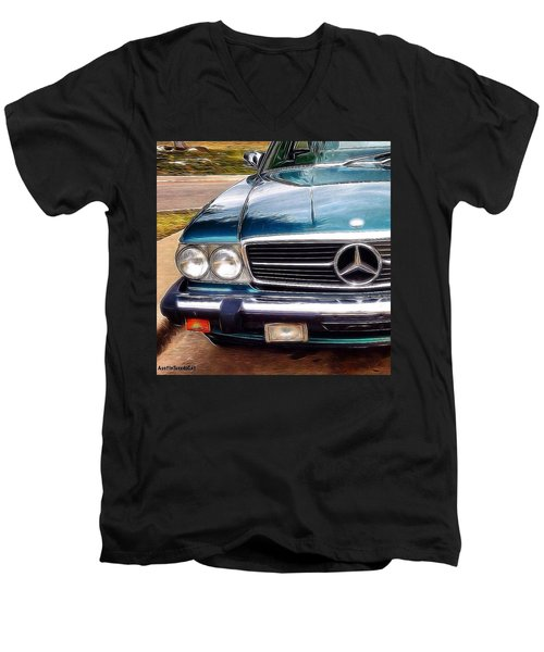 I Love #vintage #cars (and Jewelry Too) Men's V-Neck T-Shirt