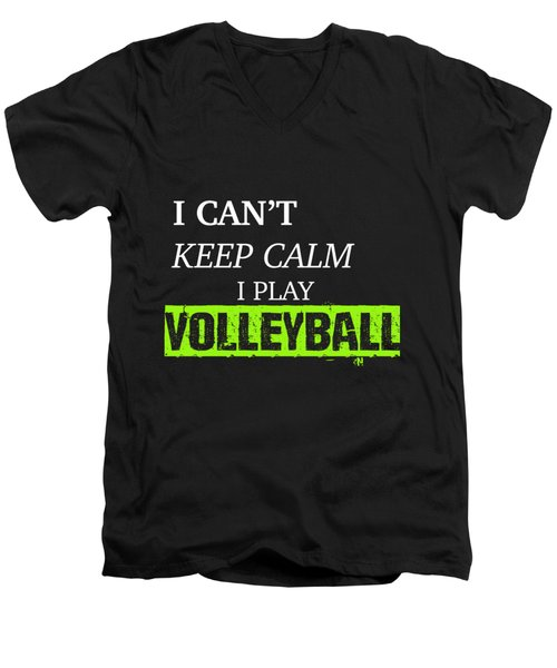 I Play Volleyball Men's V-Neck T-Shirt by Meli Mel