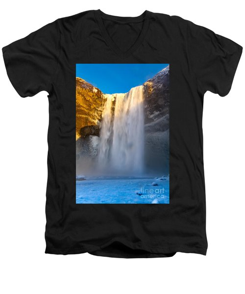 Men's V-Neck T-Shirt featuring the photograph Iceland  by Mariusz Czajkowski