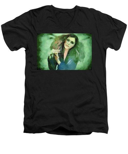 In Vain Men's V-Neck T-Shirt by Gun Legler