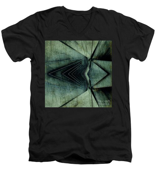 Industrial Bridge Grey Men's V-Neck T-Shirt