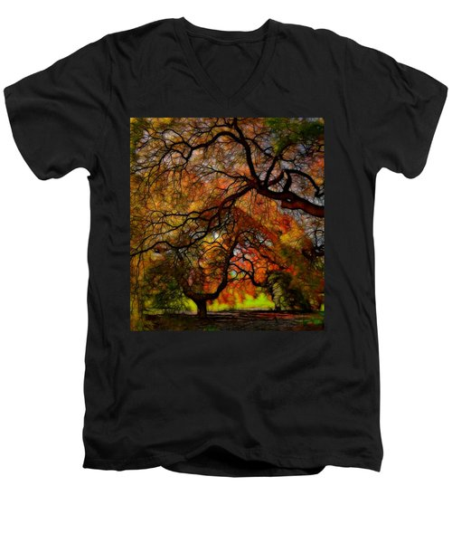 Japanese Maples 2 Men's V-Neck T-Shirt