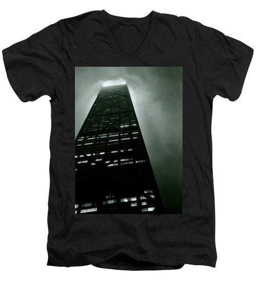 John Hancock Building - Chicago Illinois Men's V-Neck T-Shirt
