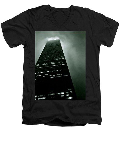 John Hancock Building - Chicago Illinois Men's V-Neck T-Shirt