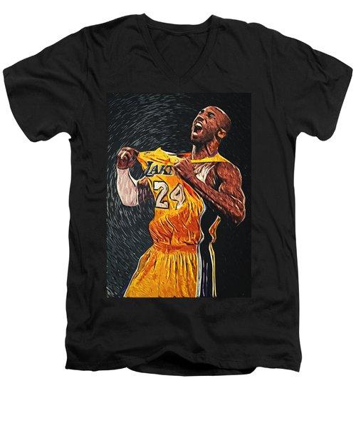 Kobe Bryant Men's V-Neck T-Shirt by Taylan Apukovska