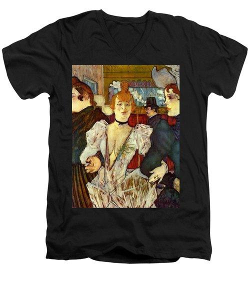 La Goulue Arriving At The Moulin Rouge With Two Women Men's V-Neck T-Shirt