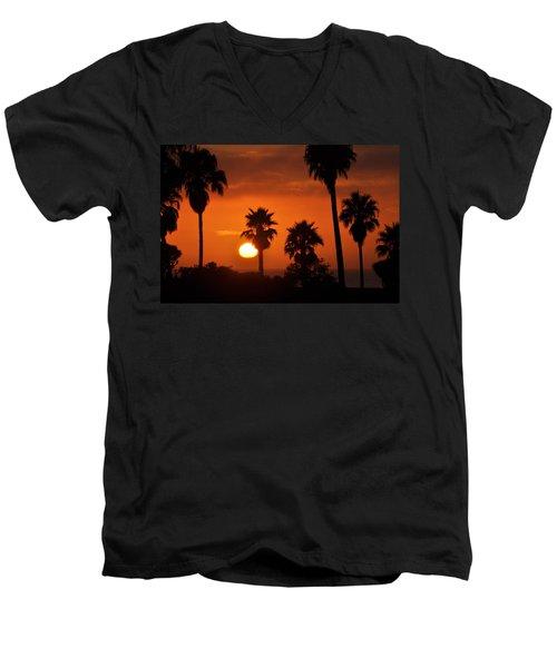 La Jolla Sunset Men's V-Neck T-Shirt