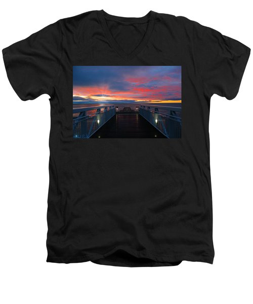 Lake Huron Sunrise Men's V-Neck T-Shirt