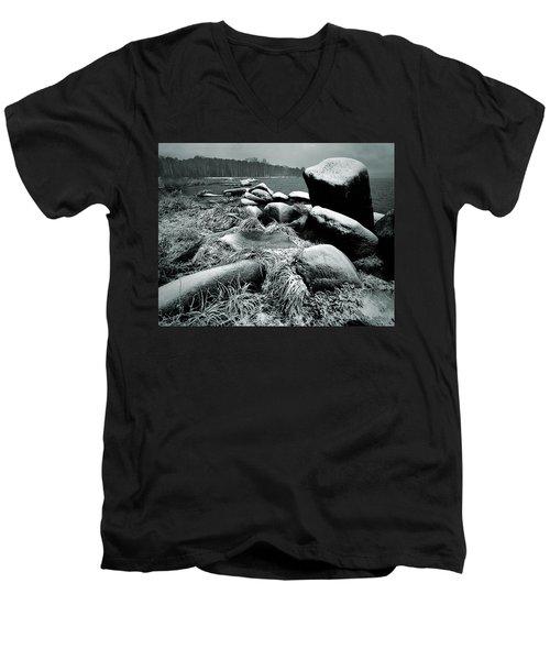 Late Fall Men's V-Neck T-Shirt by Vladimir Kholostykh