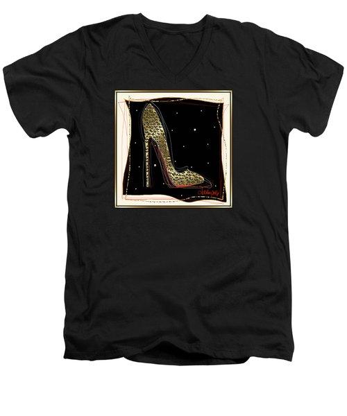 Leopard Louboutin Men's V-Neck T-Shirt