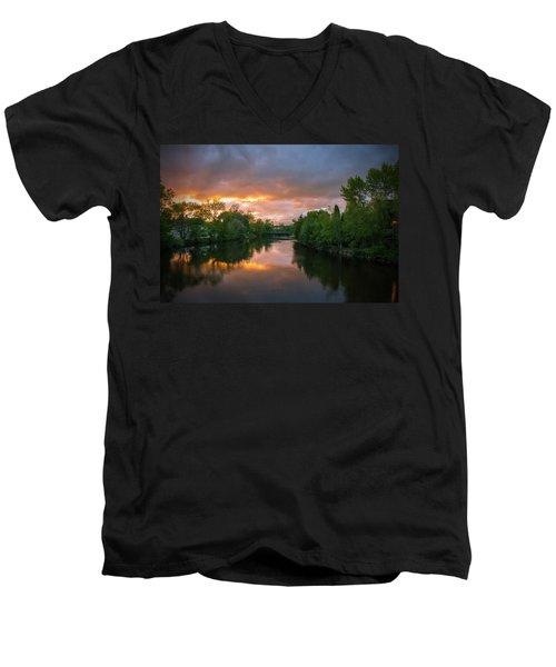 Light Show Men's V-Neck T-Shirt