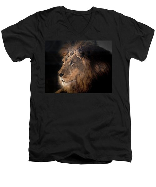 Lion King Of The Jungle Men's V-Neck T-Shirt