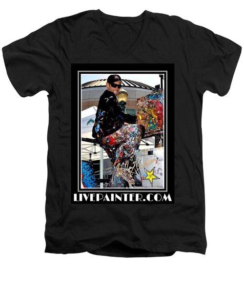 Live Painter Photo Men's V-Neck T-Shirt